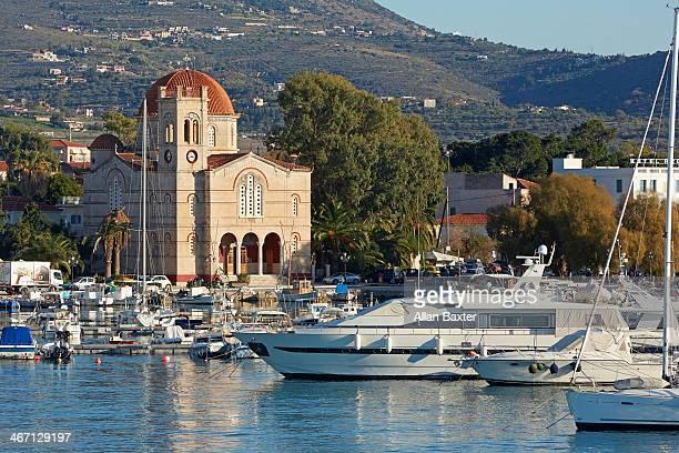 Waterfront of Egina on the Ilsand of Aegina