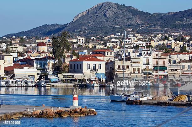 Waterfront of Egina, the port of Aegina