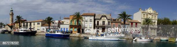 Waterfront of le Grau du Roi in Provence France