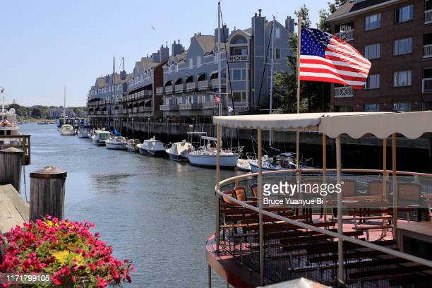 waterfront of old port - portland maine stock pictures, royalty-free photos & images