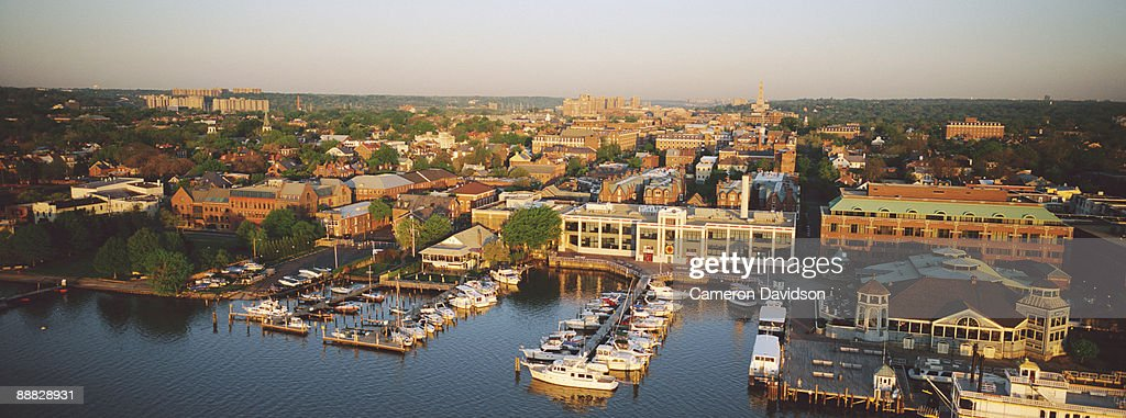 Waterfront Of Old Town Alexandria Virginia Stock Photo