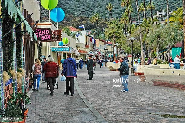 Waterfront Shopping in Avalon California on Santa Catalina Island