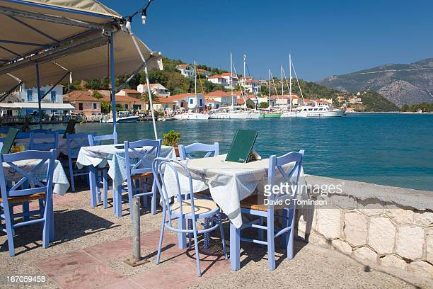 Waterfront taverna, Vathy, Ithaca, Greece