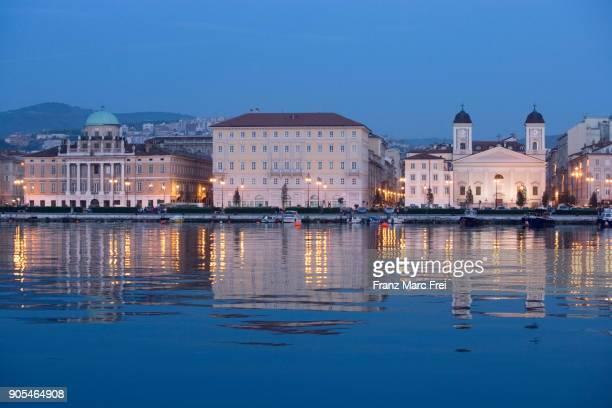 waterfront, trieste, friuli-giulia-venezia, italy - トリエステ ストックフォトと画像