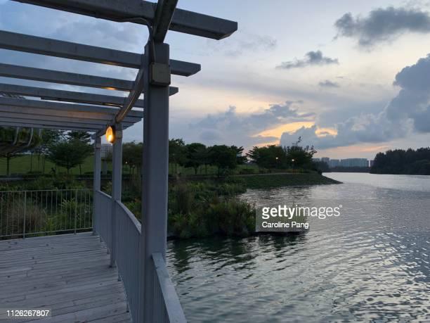 Waterfront viewing platform.
