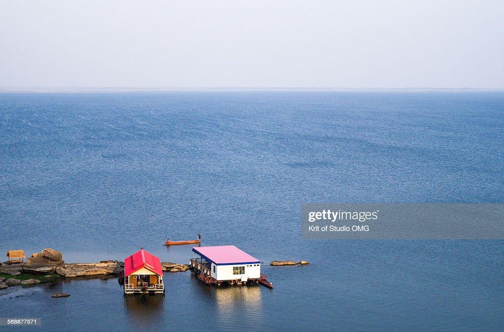 Waterfront Village : Stock Photo
