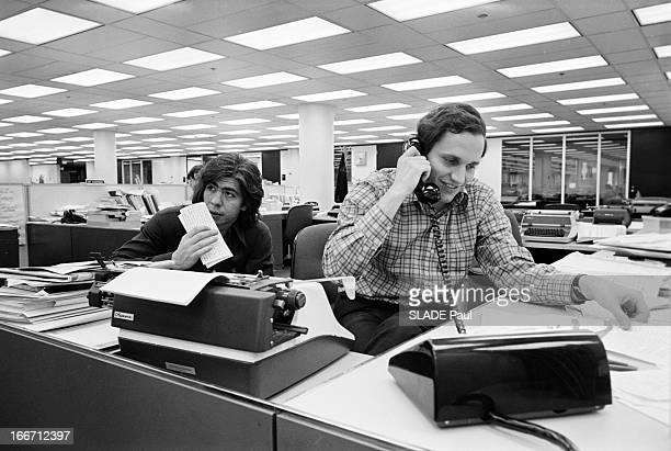 Watergate Carl Bernstein And Bob Woodward The Washington Post Journalists