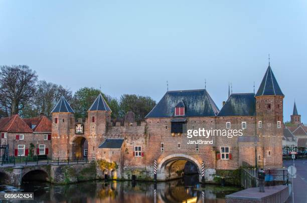watergate 'koppelpoort' in amersfoort - amersfoort netherlands stock photos and pictures