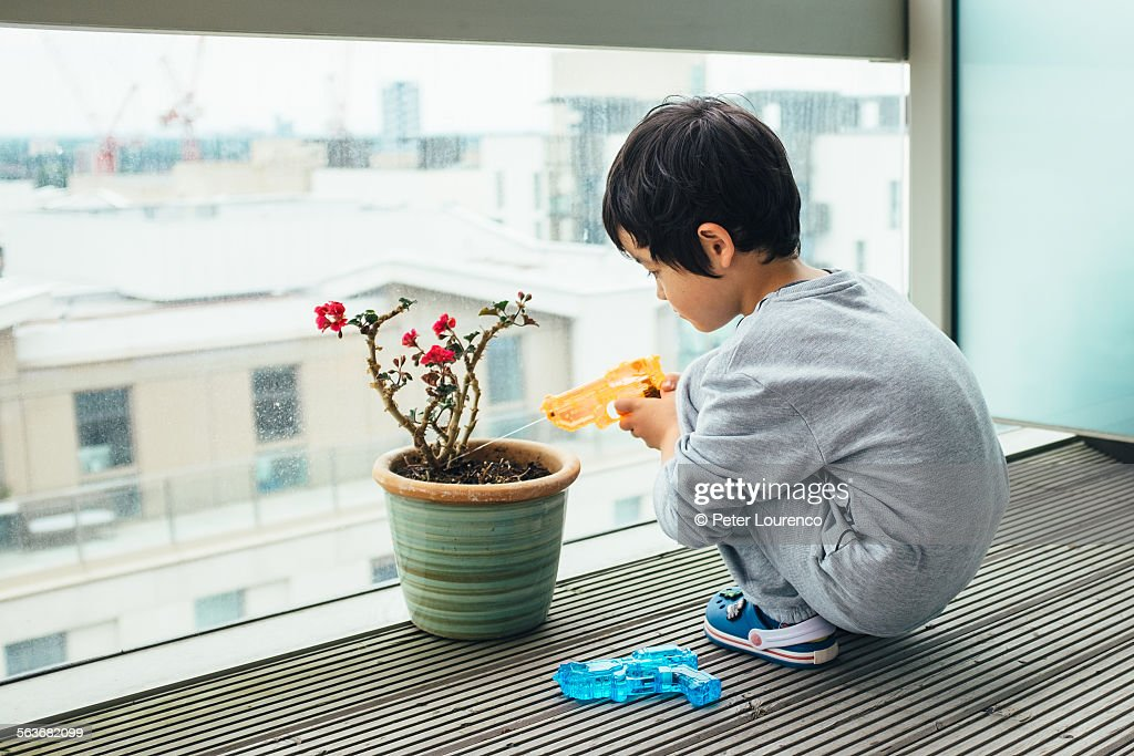 Watering gun : Stock Photo