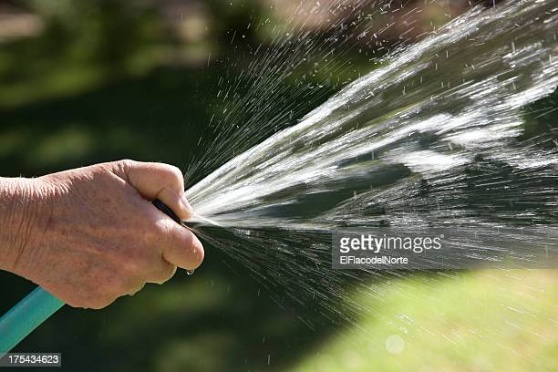 Watering with garden hose