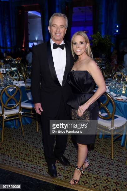 Waterkeeper Alliance President Bobby Kennedy and Cheryl Hines attend the 22nd Annual Accessories Council ACE Awards at Cipriani 42nd Street on June...