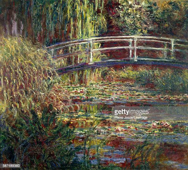 Waterlilies pool pink Harmony Painting by Claude Monet oil on canvas 1900 Musee d'Orsay Paris France