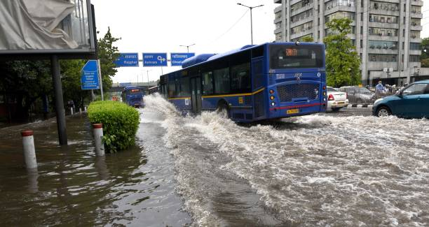 IND: Heavy Rains In Delhi Caused Waterlogging And Traffic Jam