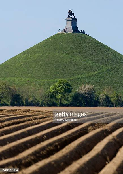 Waterloo, Belgium, April 16; 2014. -- The Lion's Mound on the battlefield of Waterloo. Lion's Hillock is an artificial hill raised on the battelfield...