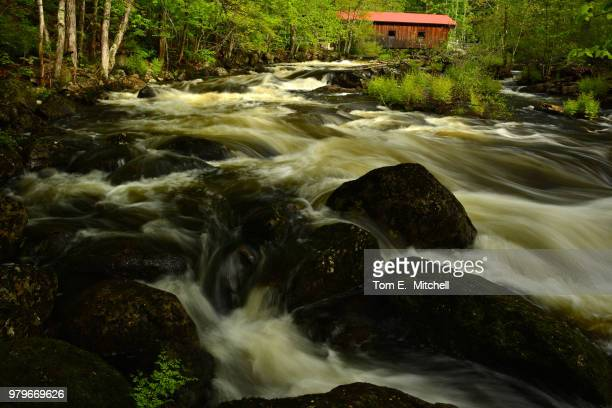waterloo covered bridge - brook mitchell stock pictures, royalty-free photos & images