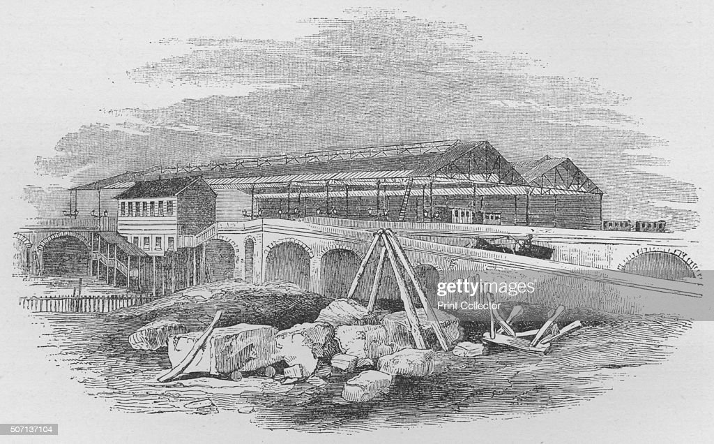 'Waterloo Railway Station, as it appeared when first built', c1848, (1912) : News Photo