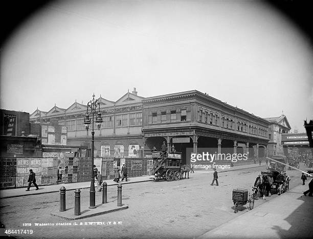 Waterloo Station York Road Lambeth London c18701900 An exterior view of Waterloo Station taken from York Road It was opened in 1848 as a temporary...