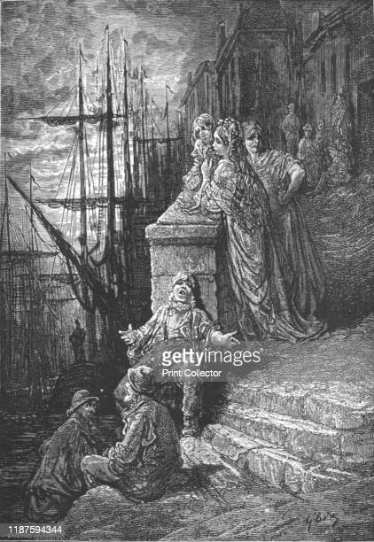 A Watermans Family' 1872 From LONDON A Pilgrimage by Gustave Dore and Blanchard Jerrold [Grant and Co 7278 Turnmill Street EC 1872] Artist Gustave...
