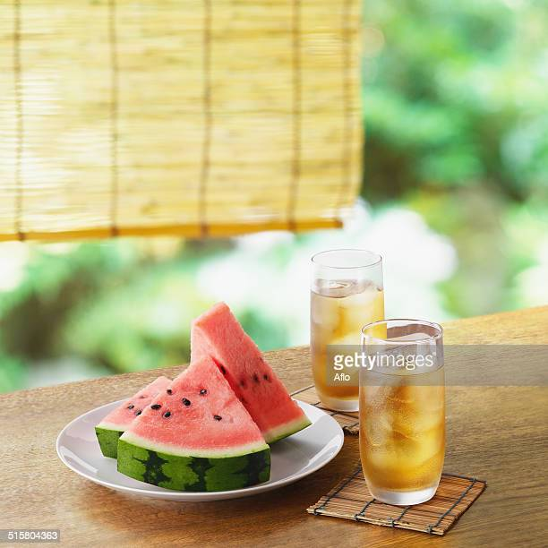 Watermelon and barley tea