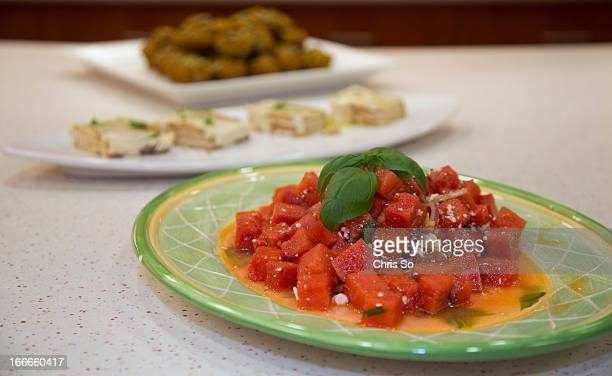 A watermelon and feta Salad and other dishes featured in Jennifer Bains new cook book