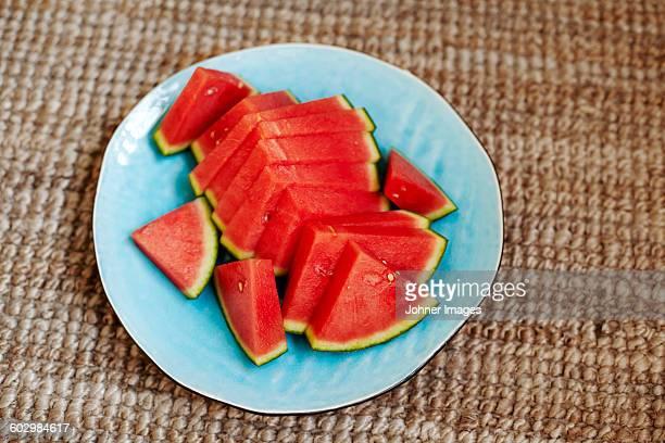 Watermelon on plate