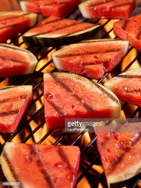 bbq watermelon - watermelon stock pictures, royalty-free photos & images