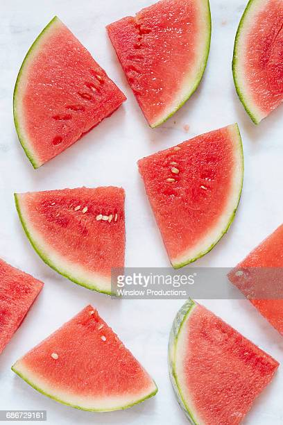 watermelon slices - watermelon stock pictures, royalty-free photos & images
