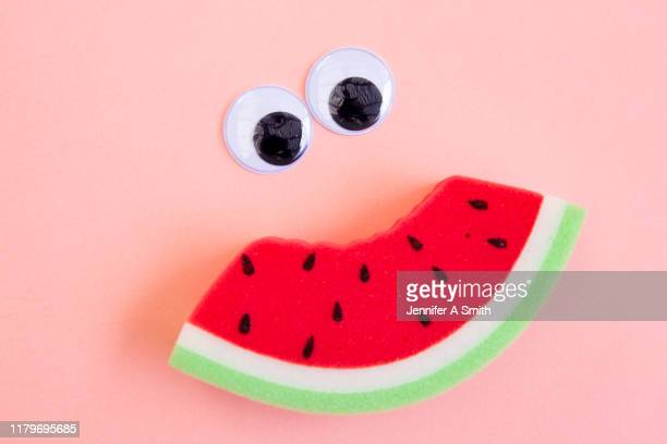 watermelon smile - jennifer mellone foto e immagini stock
