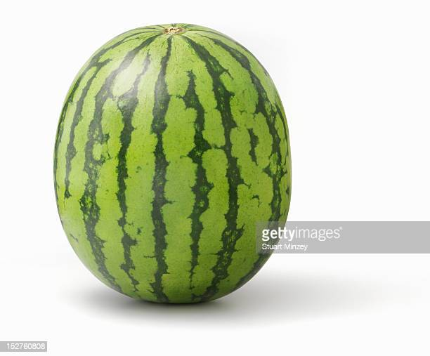 Watermelon upright on white background