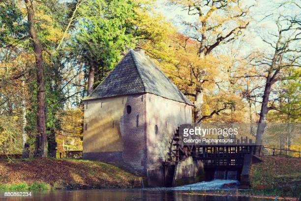 watermill in the forest - gelderland stock pictures, royalty-free photos & images
