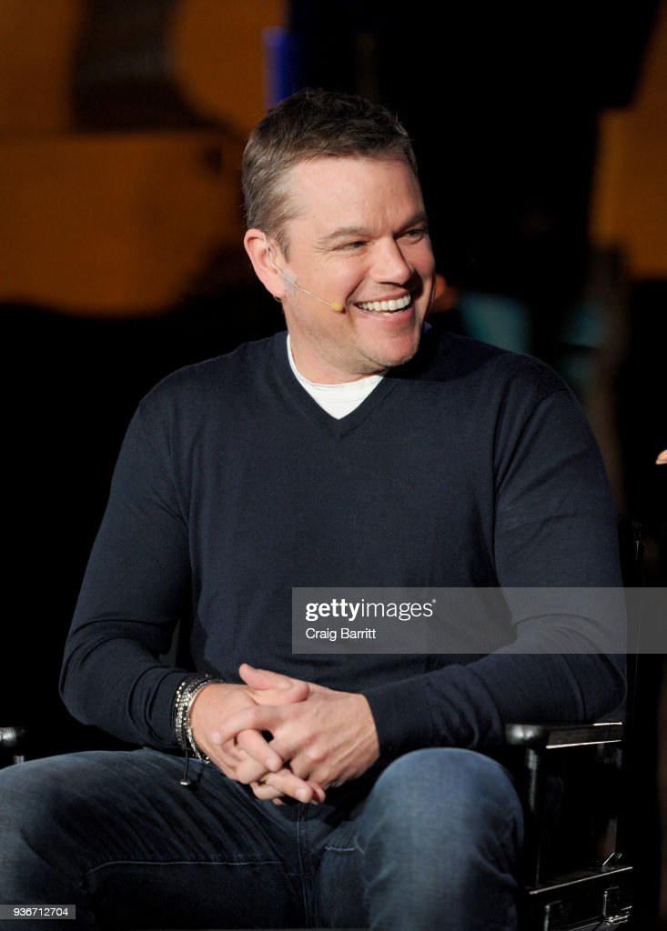 """Water.org co-founder Matt Damon joined Stella Artois to discuss the impact of the brand's partnership with Water.org to help end the global water crisis at the unveiling of """"Water Ripples"""" by Stella Artois at Grand Central Terminal in New York City on March 22, 2018."""