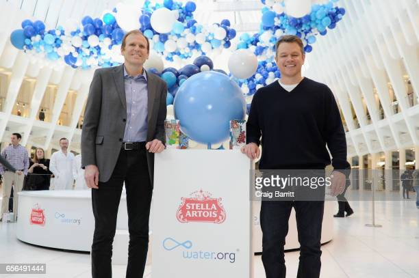 "Waterorg CoFounders Gary White and Matt Damon join Stella Artois to unveil ""The Water Clouds by Stella Artois"" a public art installation that..."