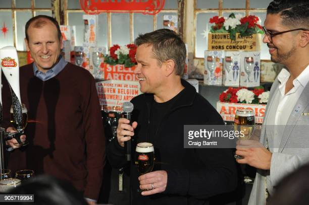 Waterorg cofounders Matt Damon and Gary White and Harry Lewis Vice President Stella Artois encourage Americans to 'Make Your Super Bowl Party Matter'...