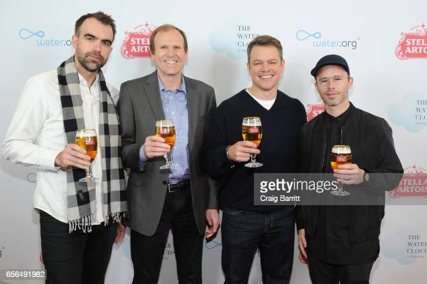 "Waterorg CoFounders Matt Damon and Gary White and Snarkitecture CoFounders Alex Mustonen and Daniel Arsham join Stella Artois to unveil ""The Water..."