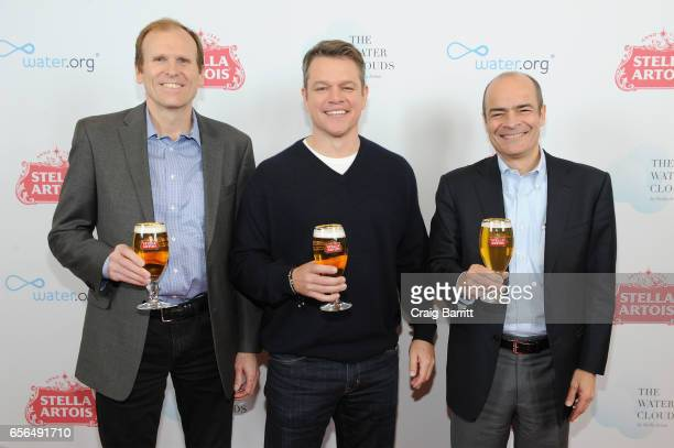 "Waterorg CoFounders Matt Damon and Gary White join Carlos Brito CEO AnheuserBusch InBev to discuss the global water crisis for Stella Artois' ""Buy A..."