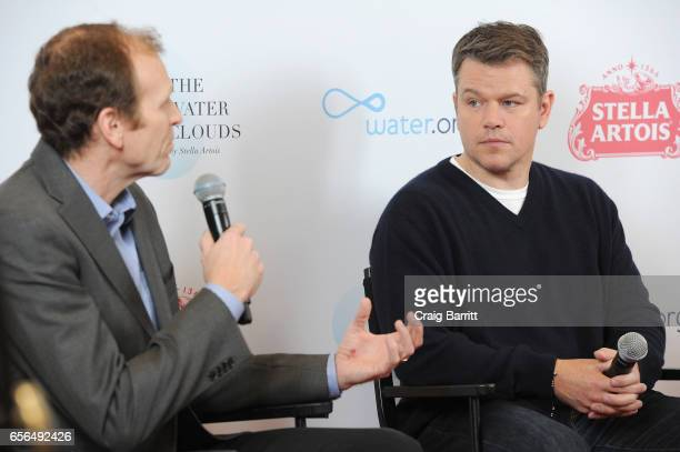 "Waterorg CoFounders Matt Damon and Gary White join Stella Artois to unveil ""The Water Clouds by Stella Artois"" a public art installation that..."