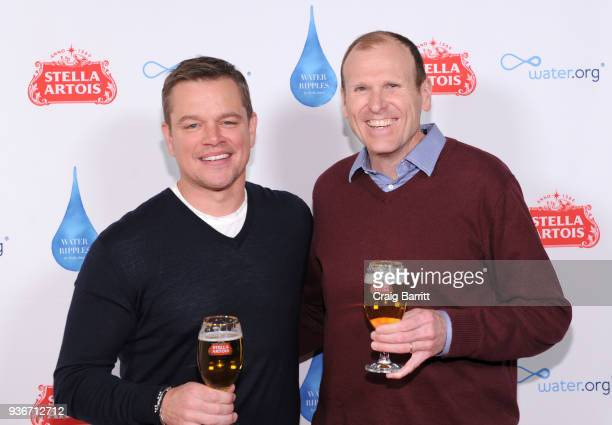 "Waterorg CoFounders Matt Damon and Gary White join Stella Artois to commemorate World Water Day with the unveiling of ""Water Ripples"" by Stella..."