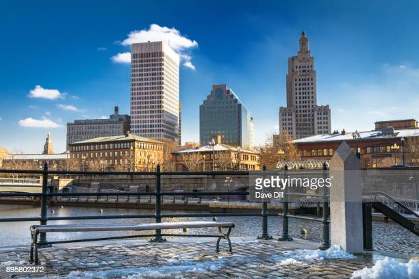 waterplace park in december 2017 - providence rhode island stock photos and pictures