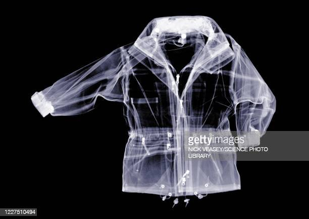 waterproof jacket, x-ray - x ray image stock pictures, royalty-free photos & images