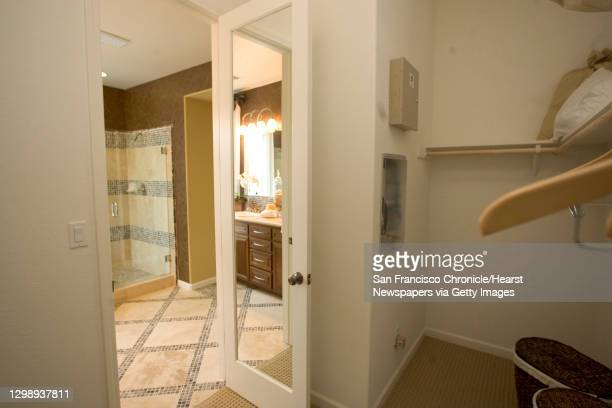 """Waters End South Model Home, 378 PiercyDr.Benica, CA.;View from inside the walk in closet, looking into the Master Bath;This model is the """"""""1A..."""
