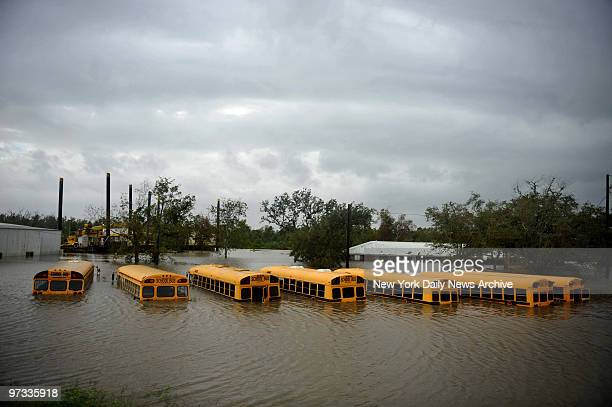 Waters rise behind a secondary levee in Braithwaite Bernard Parrish as Hurricane Gustav hits the city of New Orleans Monday The storm has been...