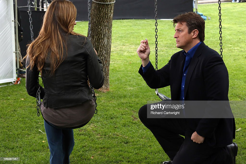 CASTLE - 'Watershed' - In the Season Finale, an interview with a high-profile federal law enforcement agency forces Beckett to reconsider what she wants out of her job -- and out of her relationship with Castle. Meanwhile, the body of a young woman is found floating inside the water tank of a skid row flop house, but as the team investigate, they discover that her final resting place is just one of many strange things about her death, on 'Castle,' MONDAY, MAY 13 (10:01-11:00 p.m., ET) on the ABC Television Network. FILLION