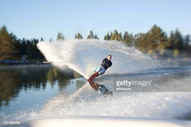 waterskiing - waterskiing stock photos and pictures