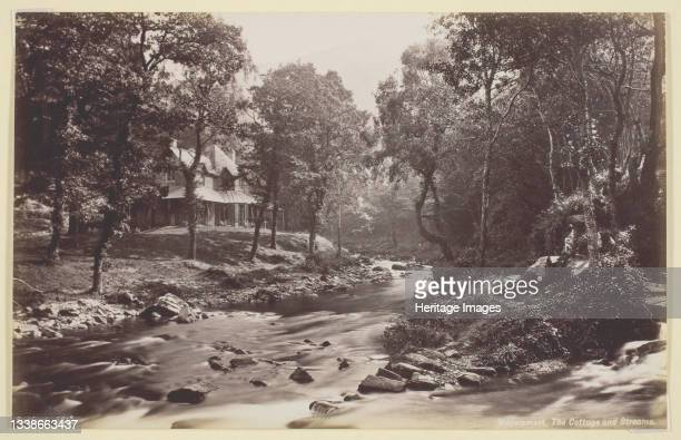Watersmeet, The Cottage and Streams, 1860/94. Albumen print. Artist Francis Bedford.