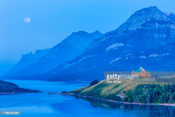 waterton national park in alberta canada - canadian rockies stock pictures, royalty-free photos & images