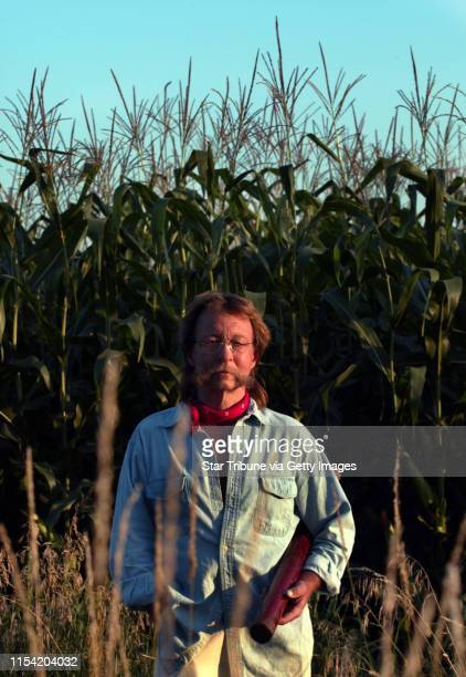 8/9/02 Waterville Mn David Olson who created the first crop circles in the US in 1979 in his nephew's cornfield as a practical joke inadvertently...