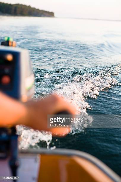 waterwaves - motorboat stock photos and pictures