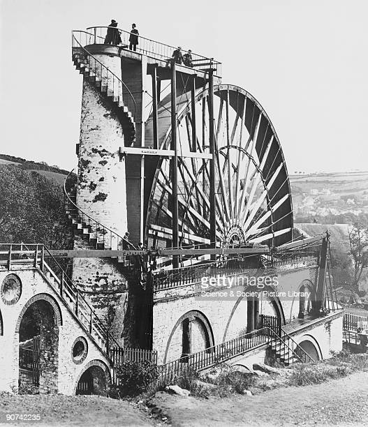 Waterwheel at Laxey Isle of Man 1854 Erected in 1854 the waterwheel shown in this photograph was built by Casement