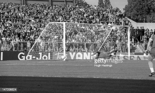 Watford fans in the North End of the stadium during the Football League Division Two match between Chelsea and Watford held on September 22 1979 at...