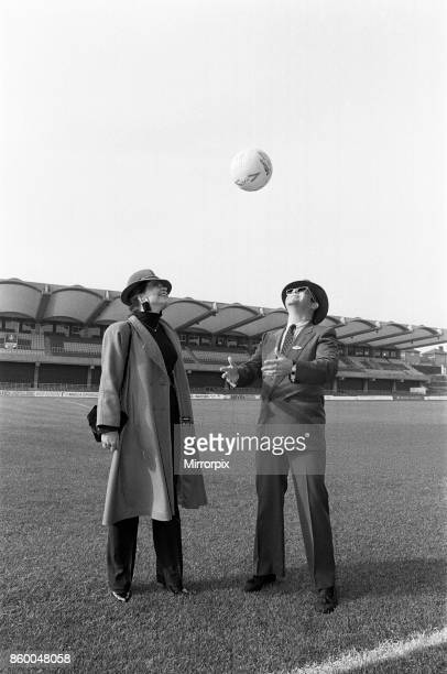Watford FC Chairman Elton John and his wife Renate at Vicarage Road home of Watford football club Pictured in front of Watford's new stand 18th...